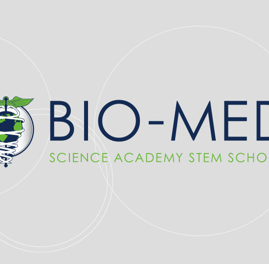 Bio Med Science Academy logo on gray background
